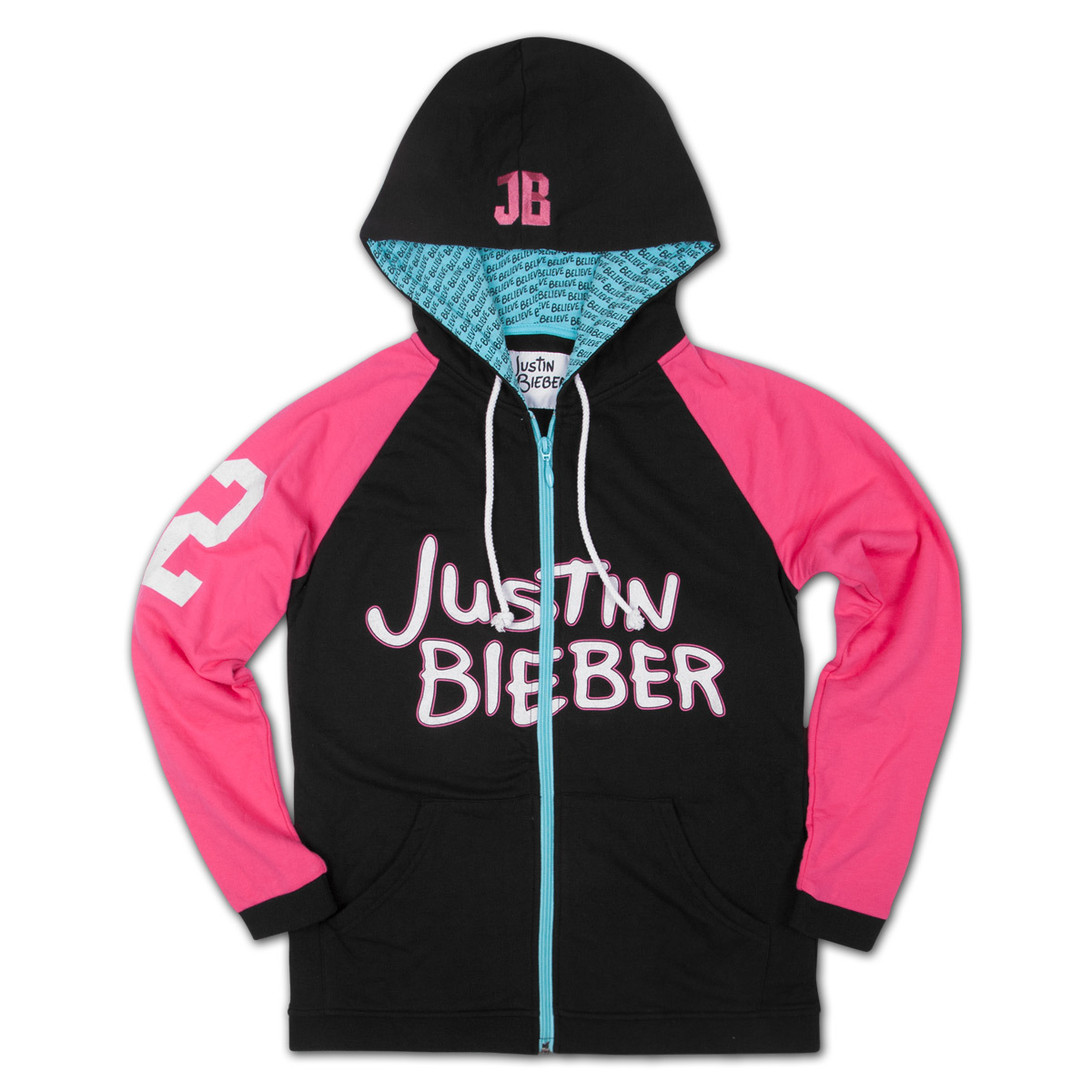 Justin Bieber Icon Zip-Up Girls Windbreaker