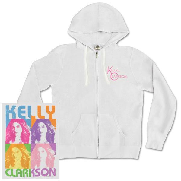 Kelly Clarkson Warhol Juniors Zip Hoodie