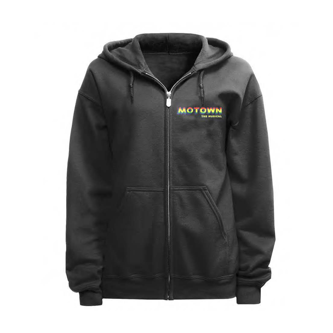 Motown Zip Up Embroidered Hoodie