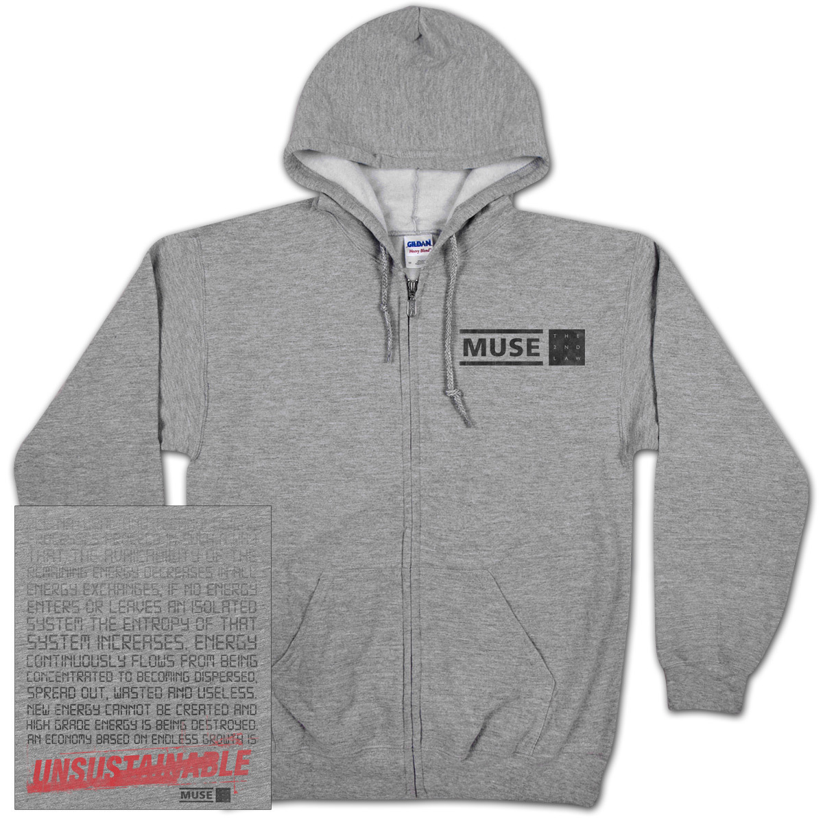 Muse Unsustainable Zip Hoodie