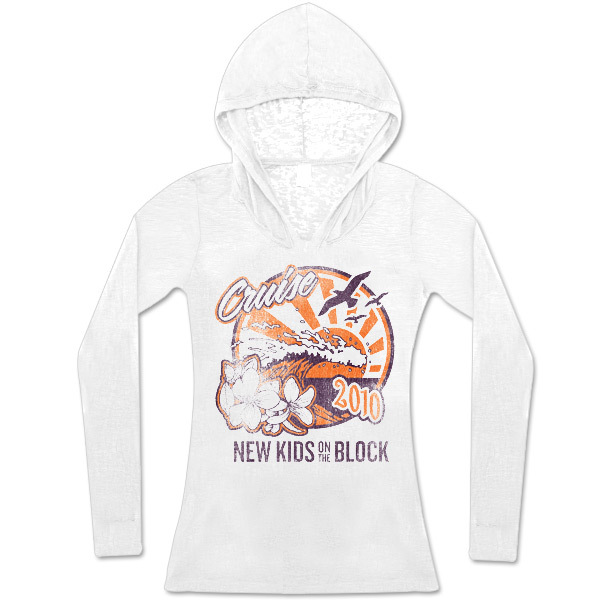 New Kids On The Block 2010 Summer Jam Burnout Hoodie