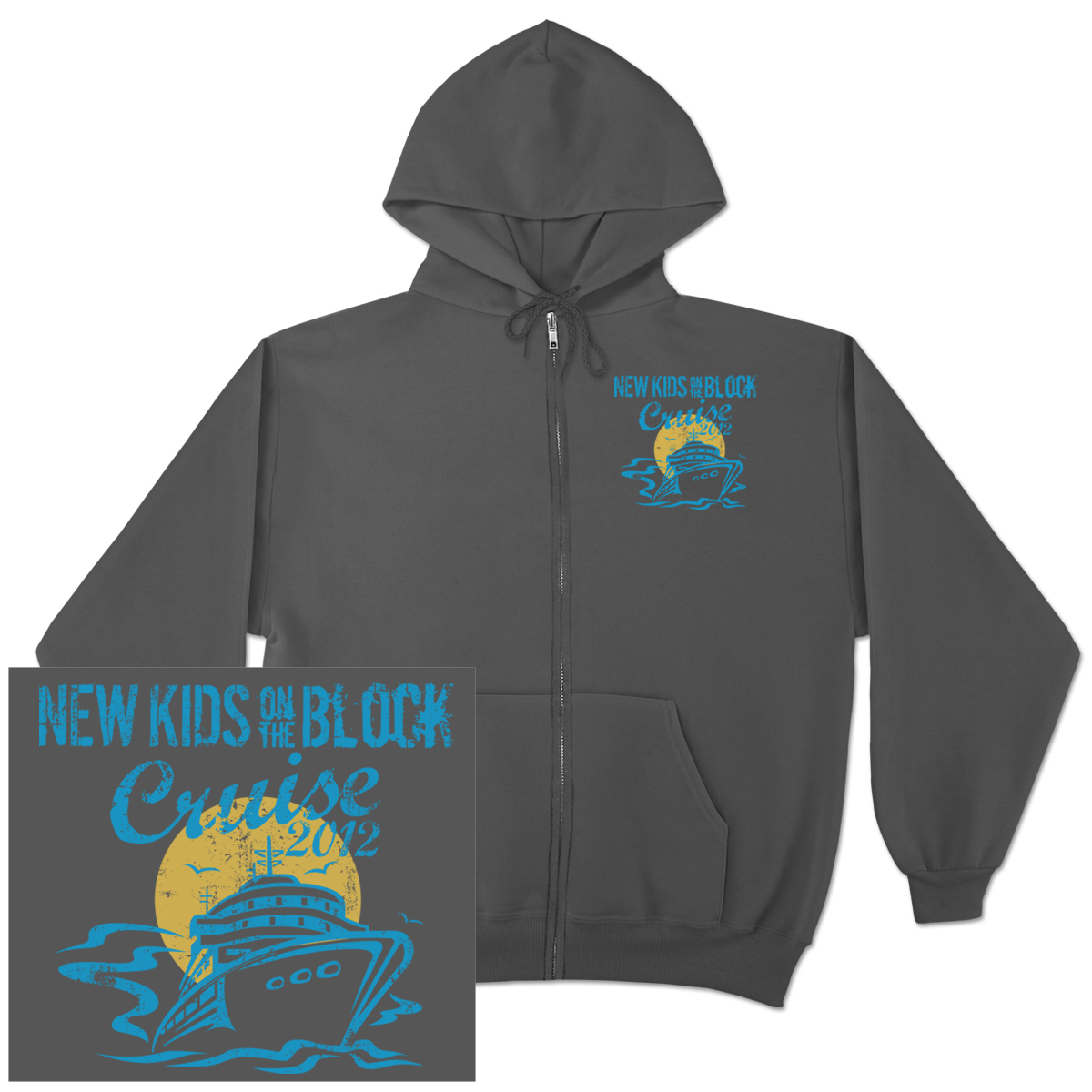 New Kids on the Block 2012 Cruise Big Ship Zip Hoodie