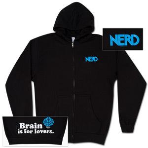 N*E*R*D Black Brain Zip Hoodie