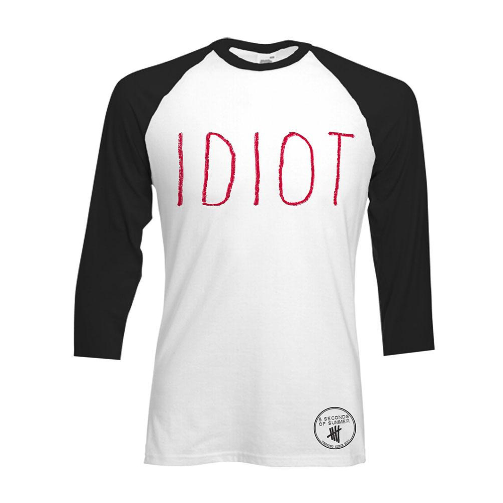 5SOS: Idiot Baseball Shirt