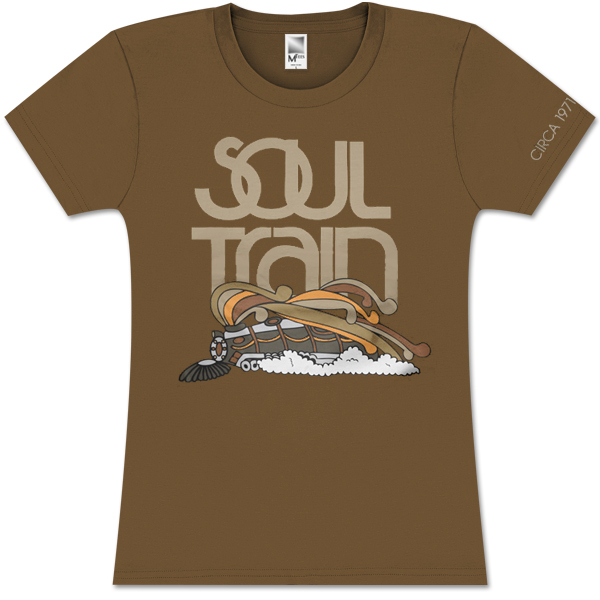 Soul Train Girls Color Logo Train Brown Tee