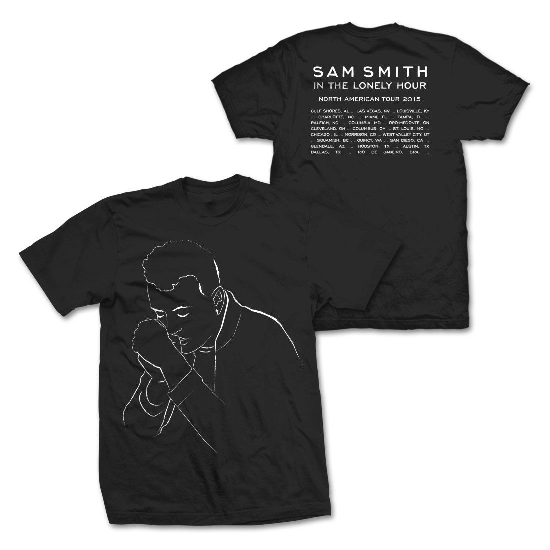 Sam Smith Illustration Tour T-Shirt