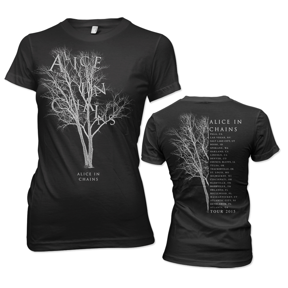 alice in chains tree 2015 tour junior t shirt musictoday superstore. Black Bedroom Furniture Sets. Home Design Ideas