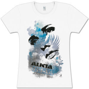 Alicia Keys Eyes and Lips Girls Fitted T-Shirt