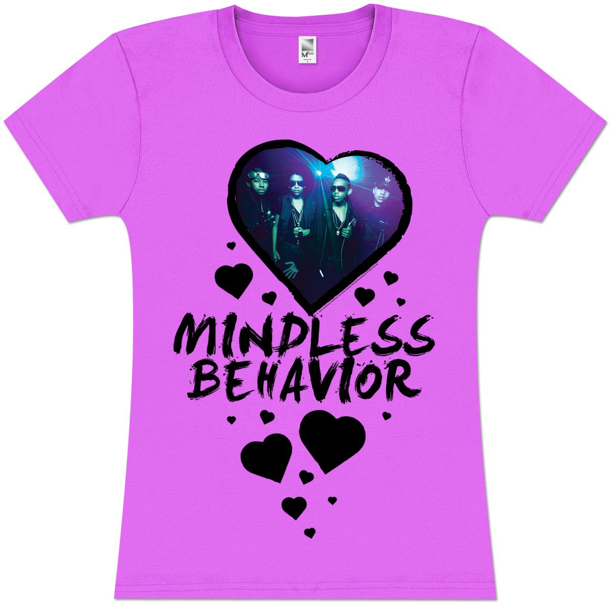 Mindless Behavior Heart Girlie T-Shirt