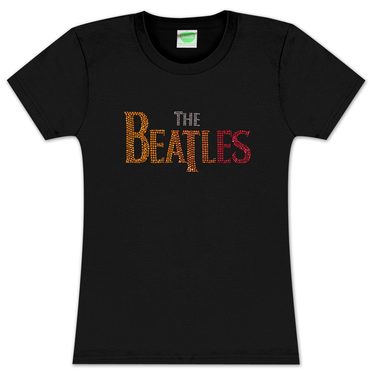 The Beatles Classic Logo Rainbow Rhinestuds Babydoll T-Shirt