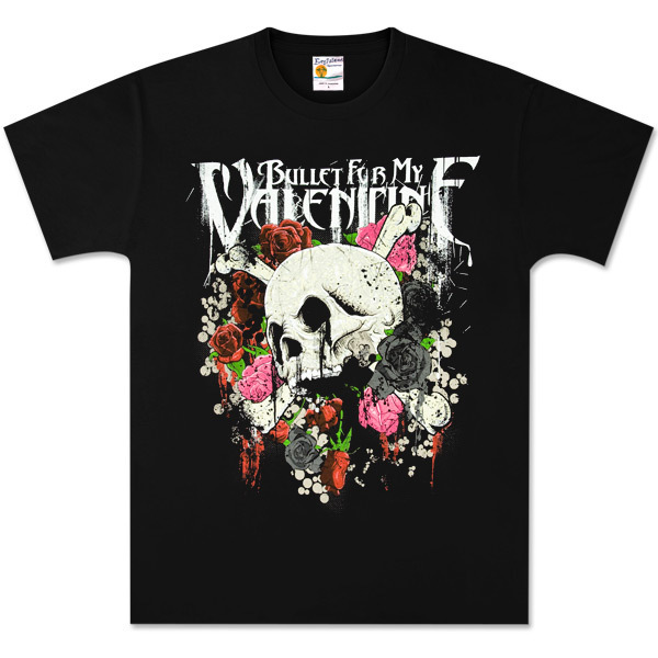 Bullet for My Valentine Skull N Roses Black Tee