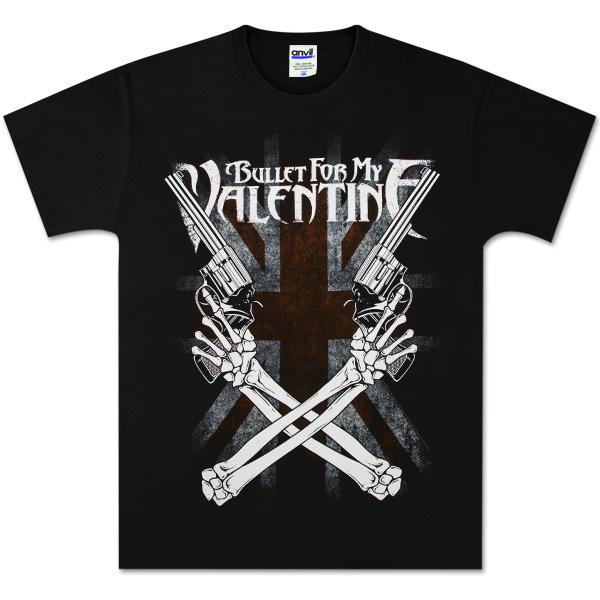 Bullet For My Valentine Cross Guns T-Shirt
