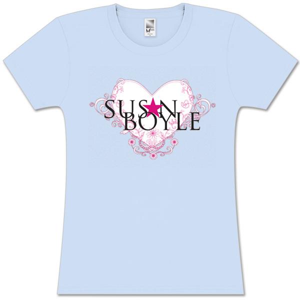 Susan Boyle Heart Fleur Grey Missy T-Shirt