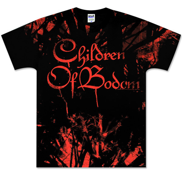 Children of Bodom Red Allover T-Shirt Black