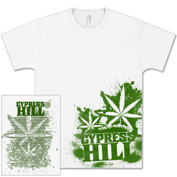 Cypress Hill Green Side Print T-Shirt