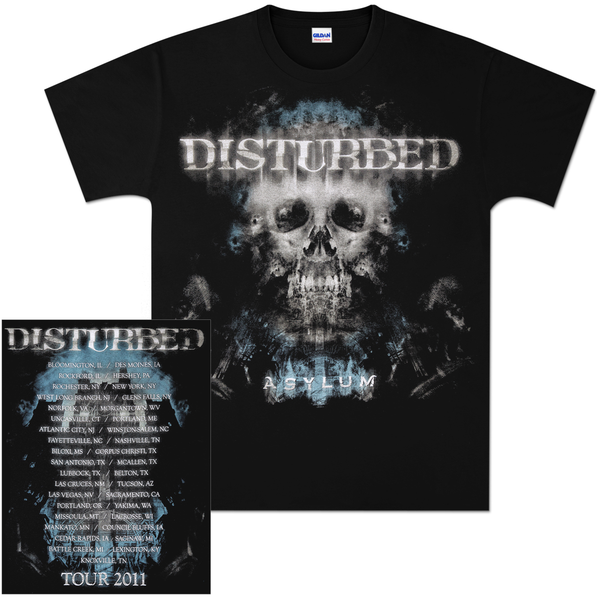 Disturbed Silent Hill 2011 Tour T-Shirt