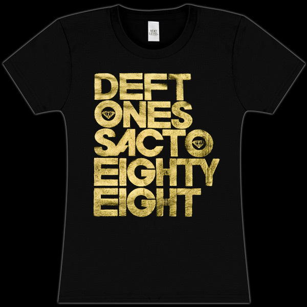 Deftones Foil Eighty-Eight Girls Fitted T-Shirt