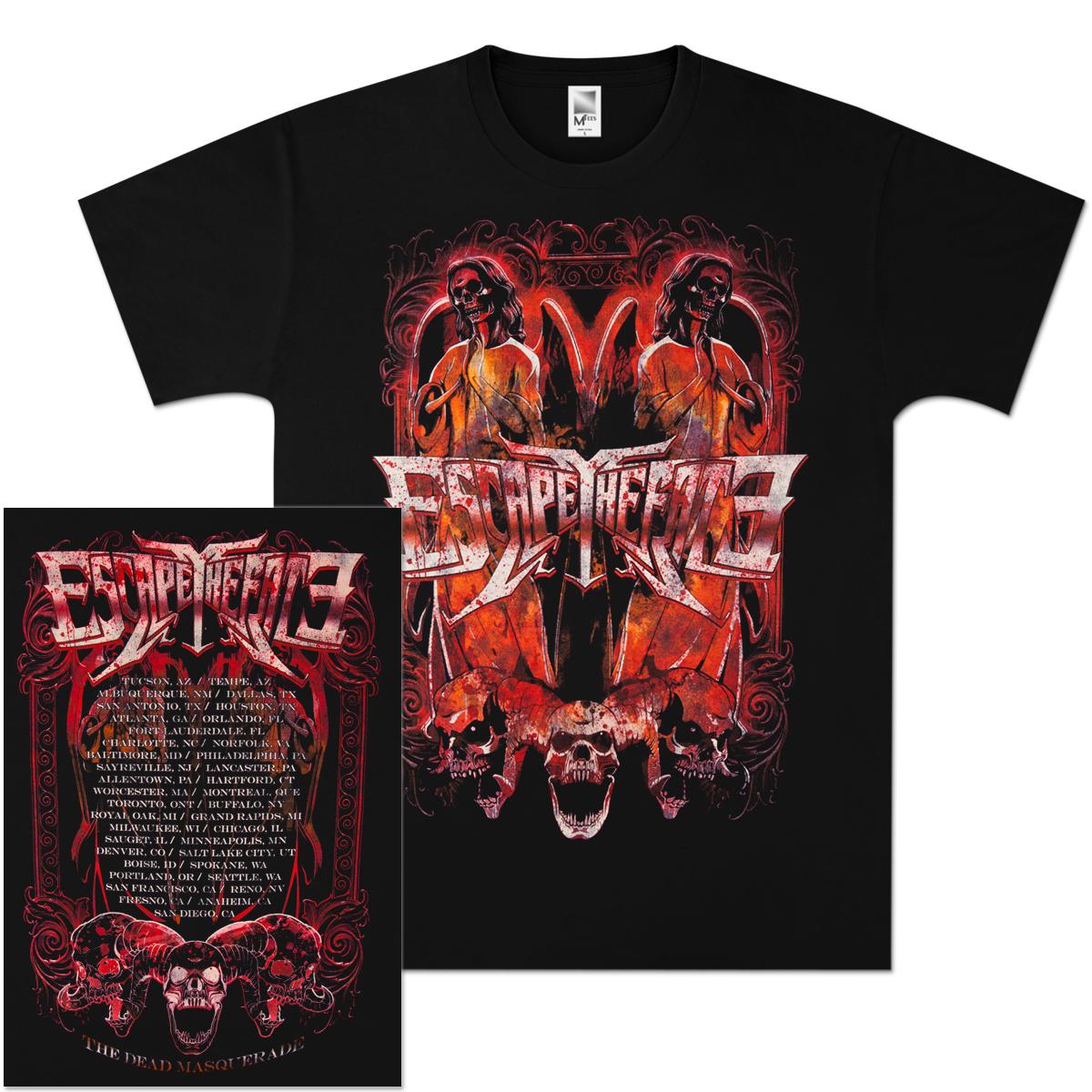 Escape The Fate Heaven's Door 2011 Tour T-Shirt