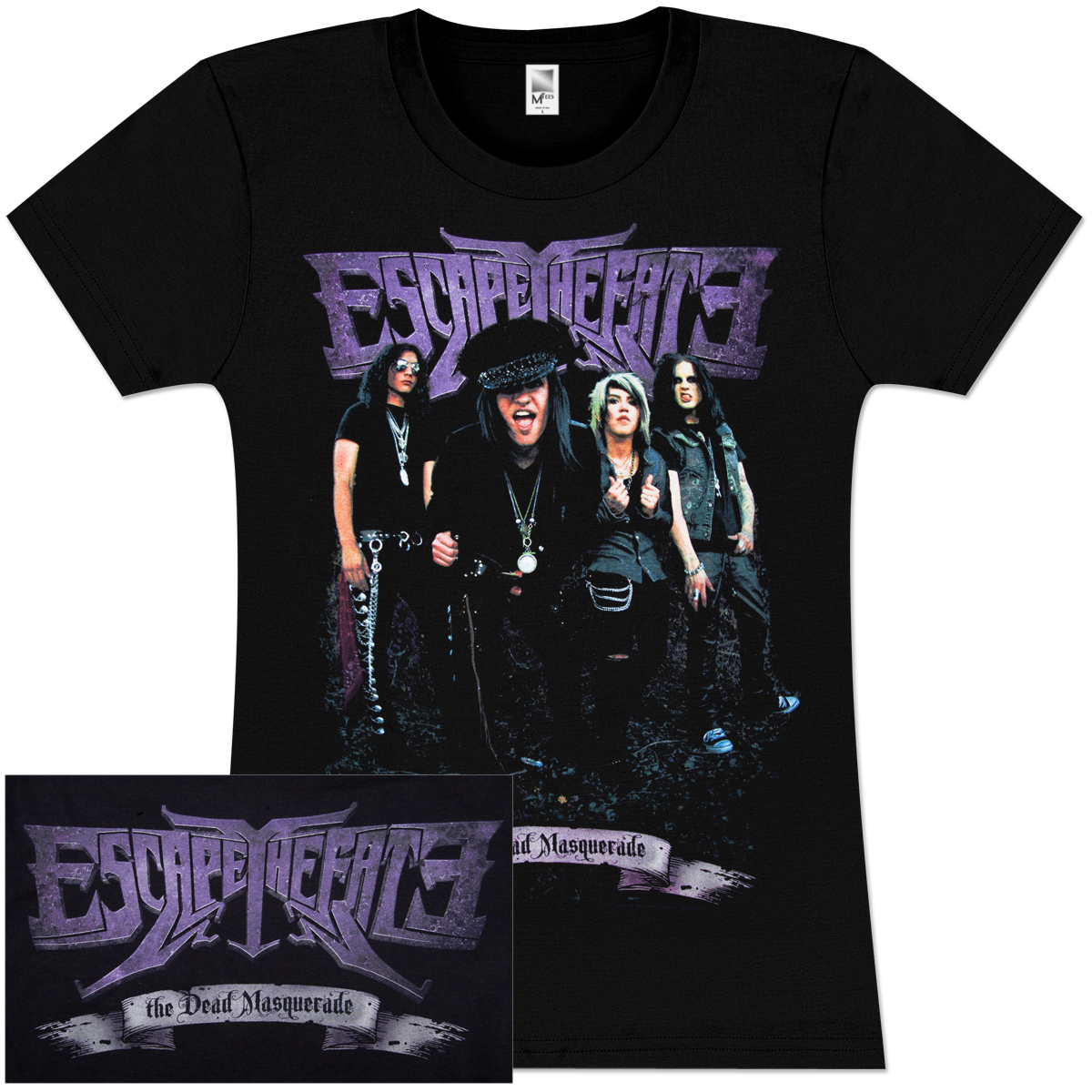 Escape The Fate Purple Banner Junior's T-Shirt