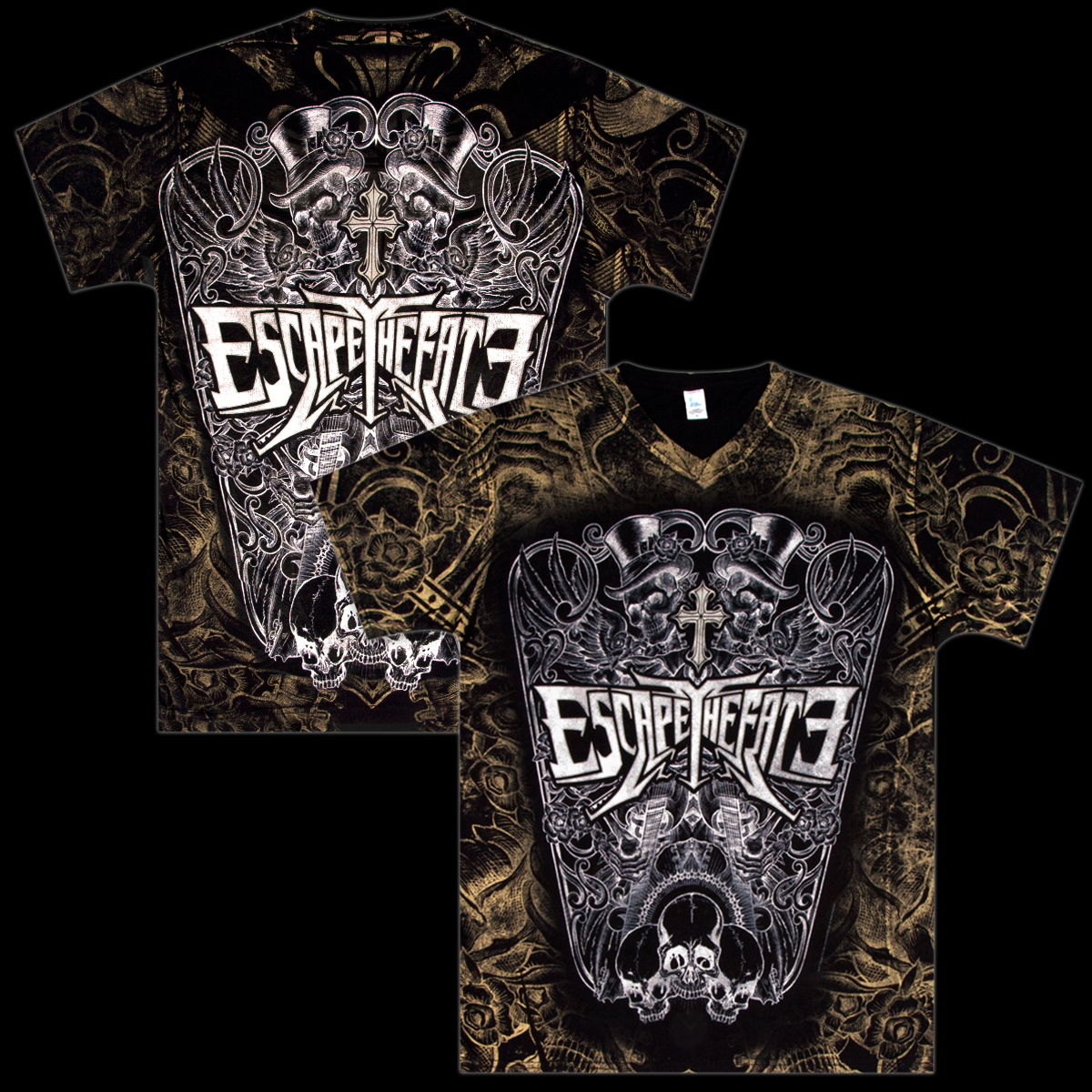 Escape The Fate V-Neck T-Shirt