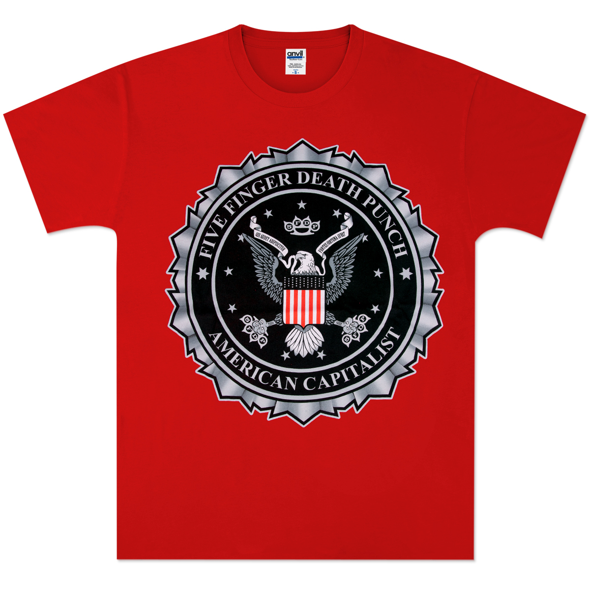 Five Finger Death Punch Red Eagle Seal T-Shirt