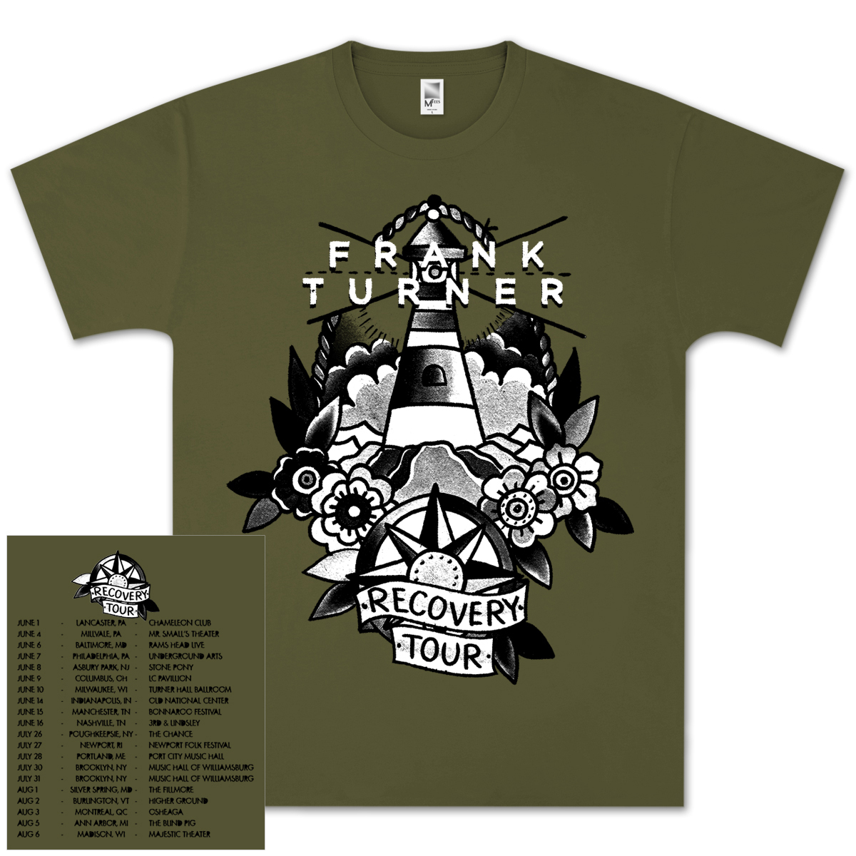 Frank Turner Recovery Dateback T-Shirt
