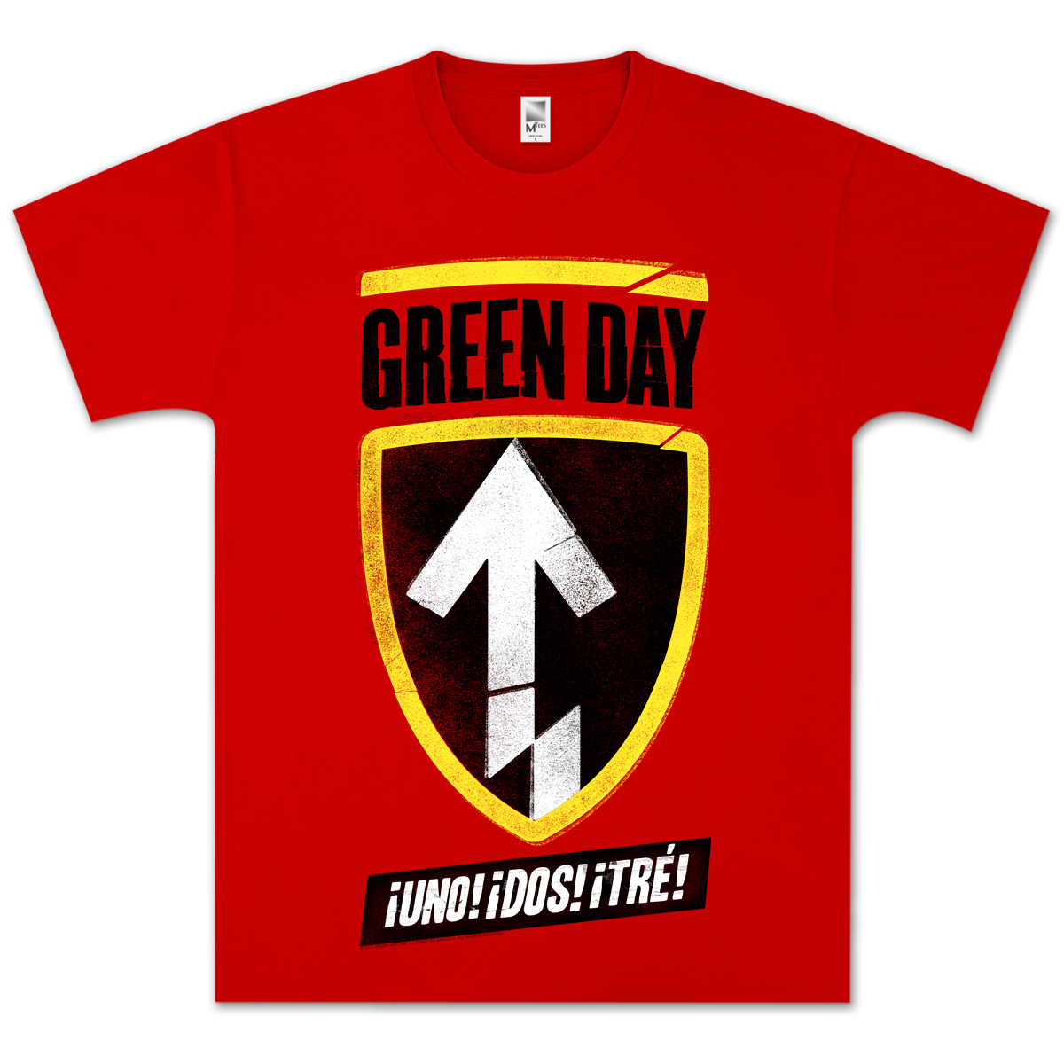 Green Day Badge Uno! Dos! Tre! T-Shirt
