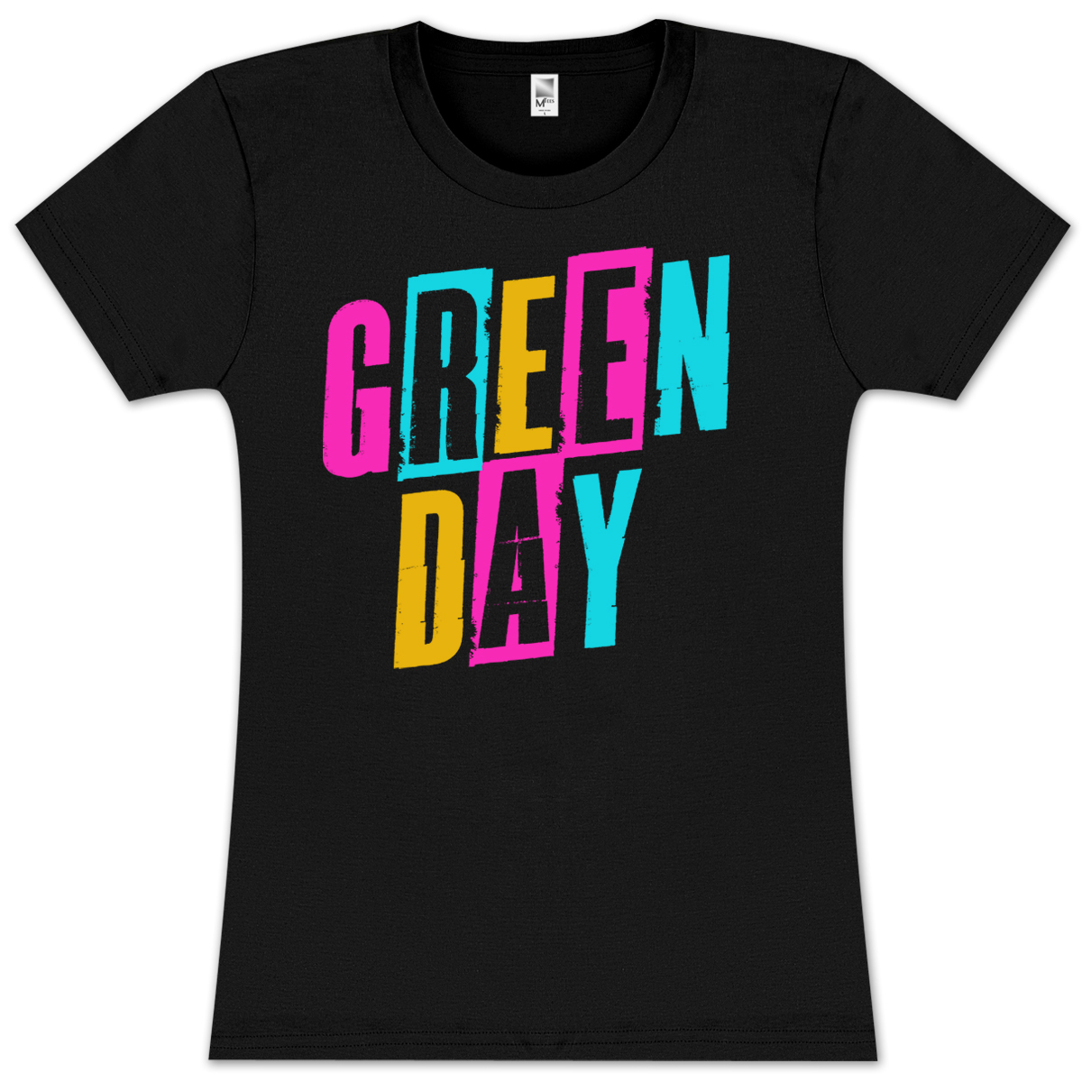 Green Day Flash Cards Girlie T-Shirt