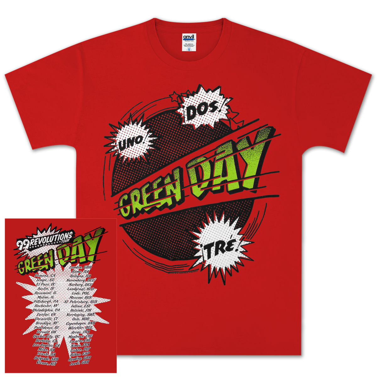 Green Day Power Up Tour T-Shirt
