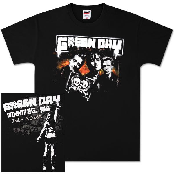 Green Day Winnipeg Event T-Shirt