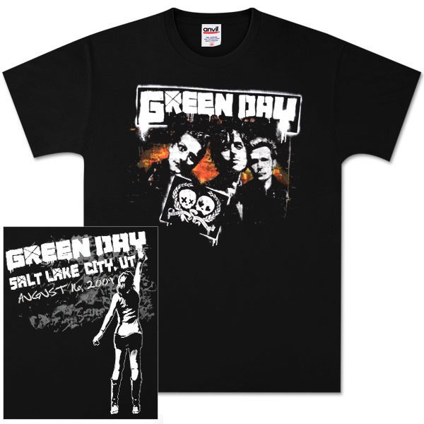 Green Day Salt Lake City Event T-Shirt