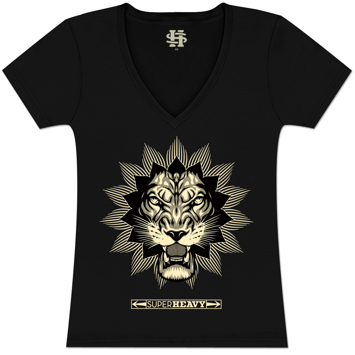 SuperHeavy Juniors V-Neck Lion T-Shirt