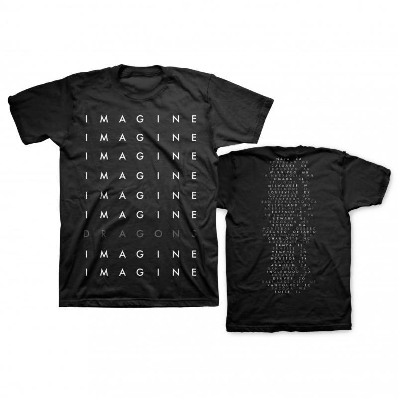 Repeat Logo Black Tour T-shirt