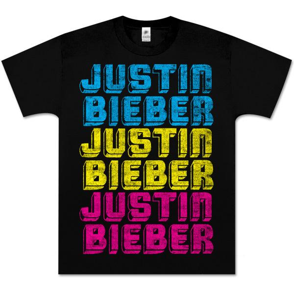 Justin Bieber CMYK Black T-Shirt