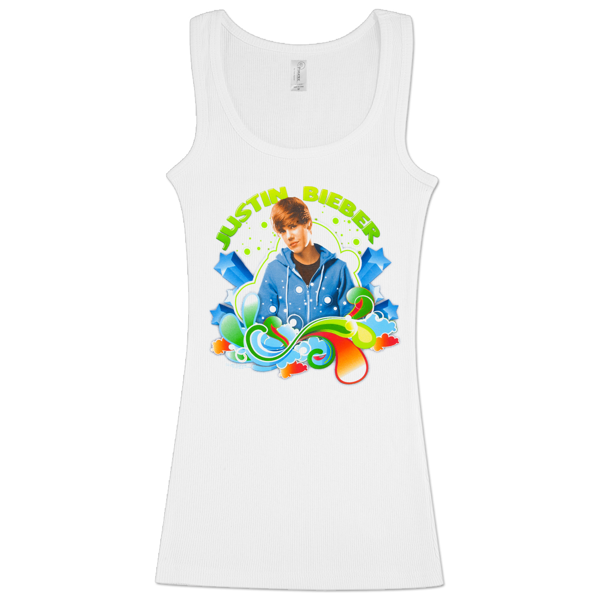 Justin Bieber Swirls & Stars Girlie Tank Top