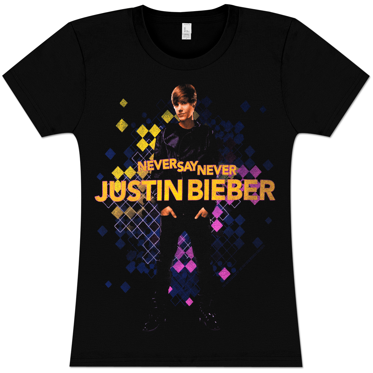 justin bieber color cells girlie t shirt musictoday. Black Bedroom Furniture Sets. Home Design Ideas