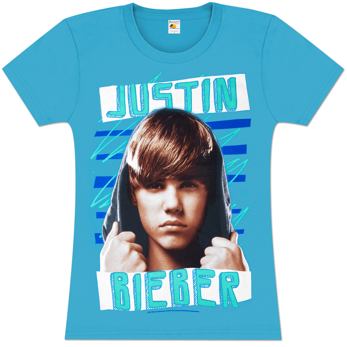 justin bieber zig zag juniors girlie t shirt musictoday. Black Bedroom Furniture Sets. Home Design Ideas
