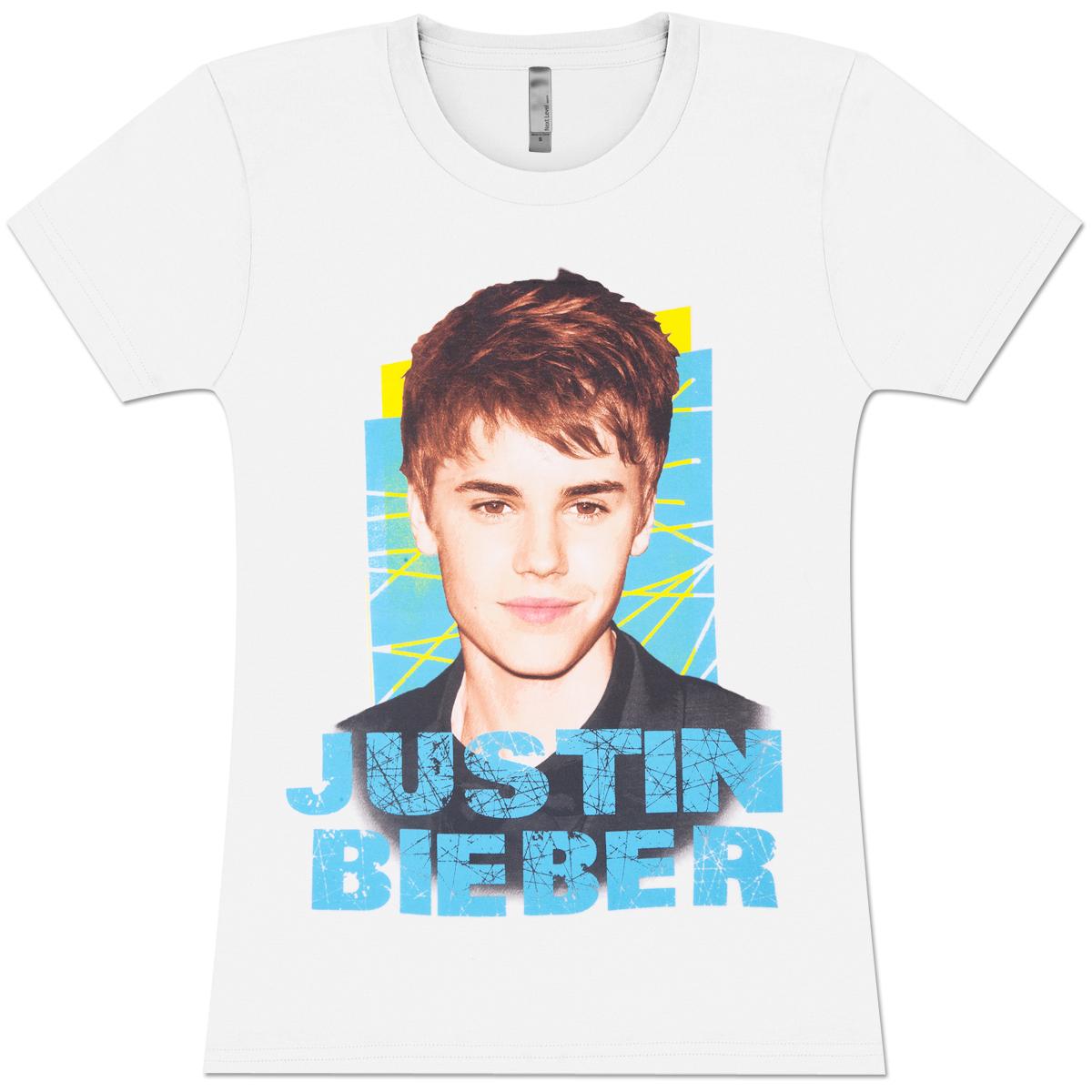 Justin Bieber Criss Cross Girlie T-Shirt