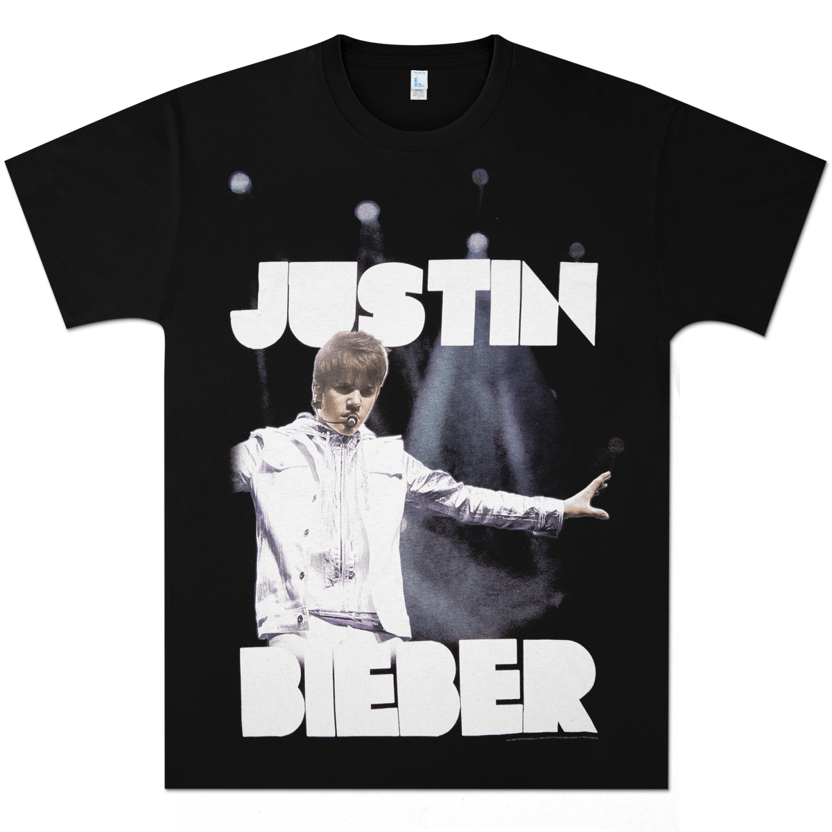 justin bieber spotlights t shirt musictoday superstore. Black Bedroom Furniture Sets. Home Design Ideas