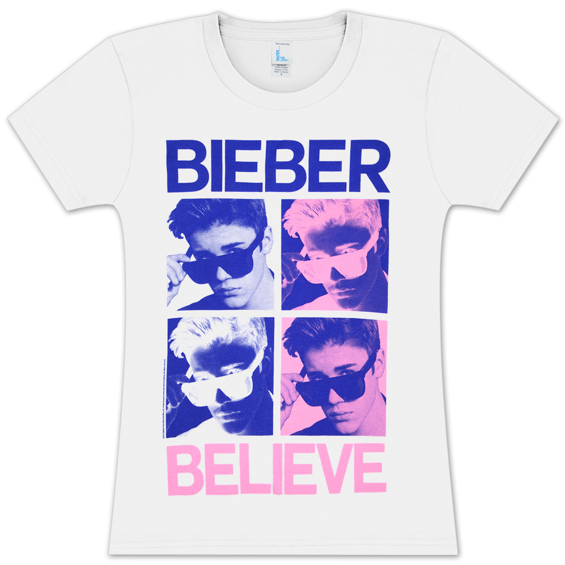 justin bieber bieberhol girlie t shirt musictoday superstore. Black Bedroom Furniture Sets. Home Design Ideas