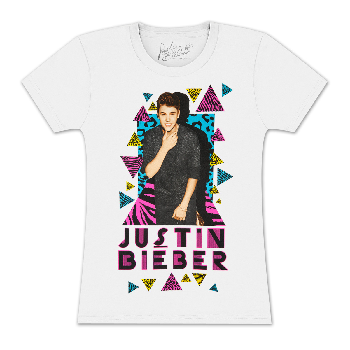 Justin Bieber Leopard Triangles Girls T-Shirt