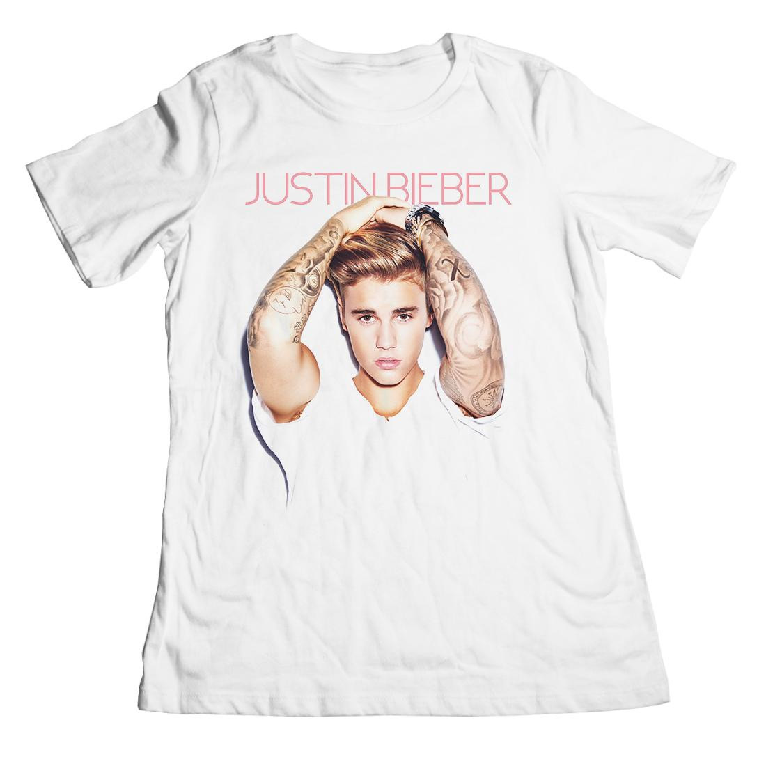 justin bieber arms up boyfriend juniors t shirt