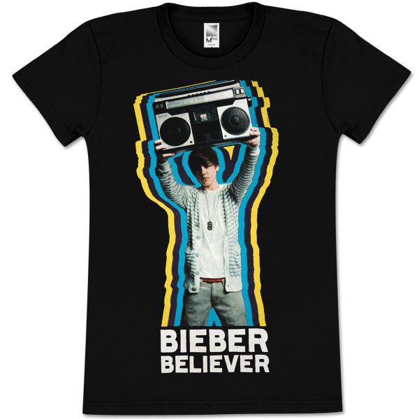 Justin Bieber Believer Girlie T-Shirt
