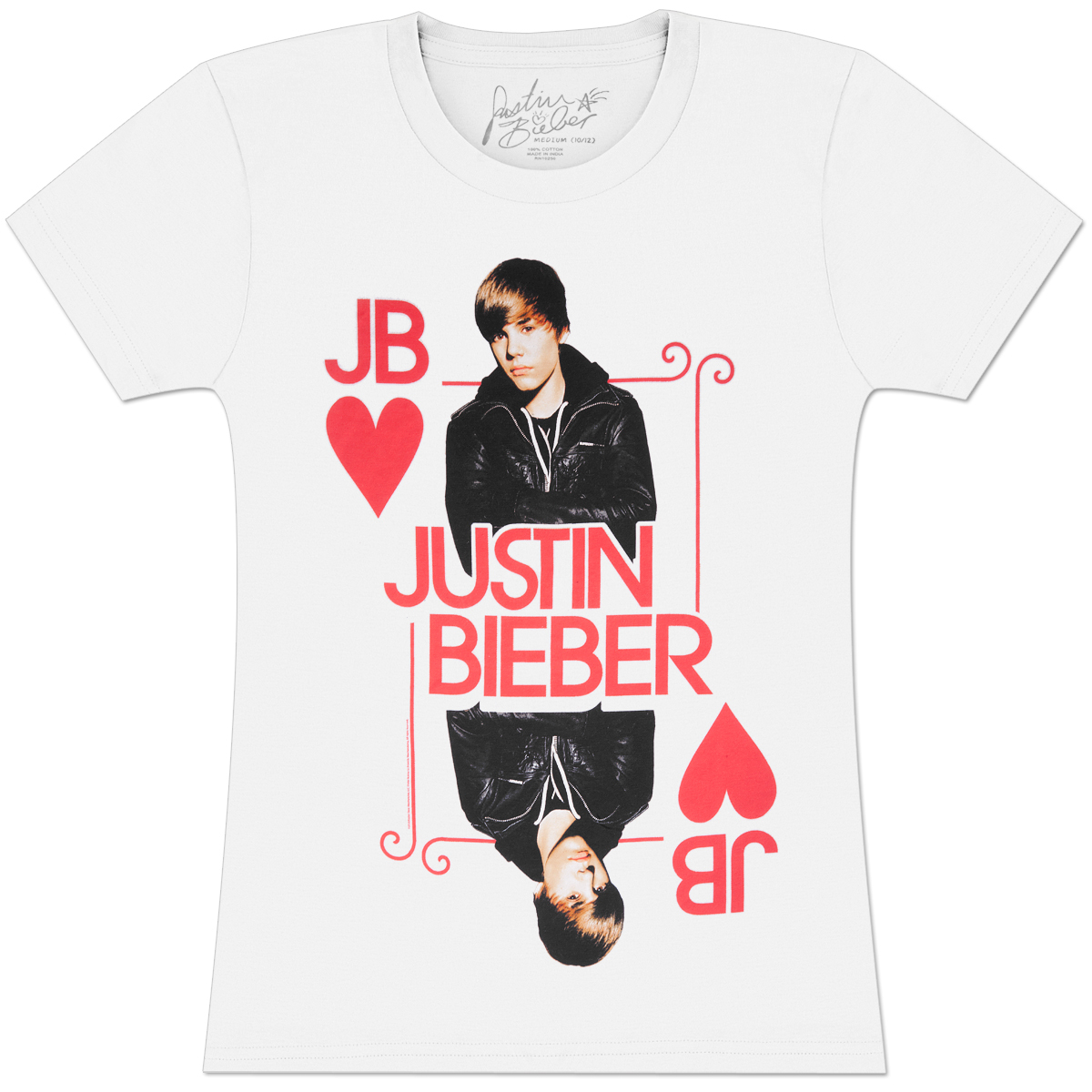 Justin Bieber King Of Hearts Juniors T-Shirt