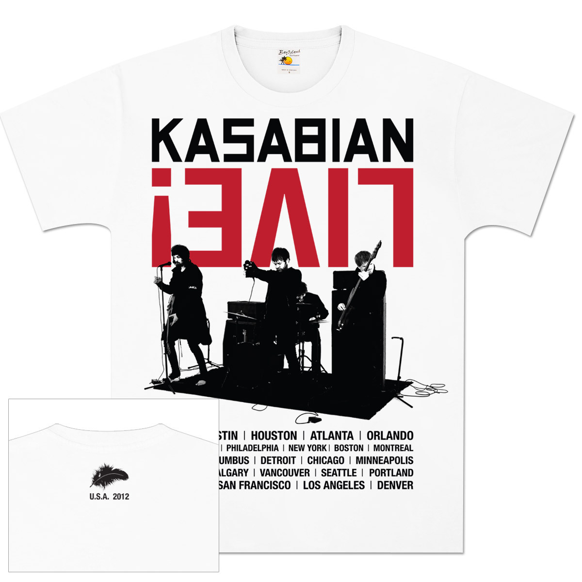 Kasabian Live Band Tour T-Shirt