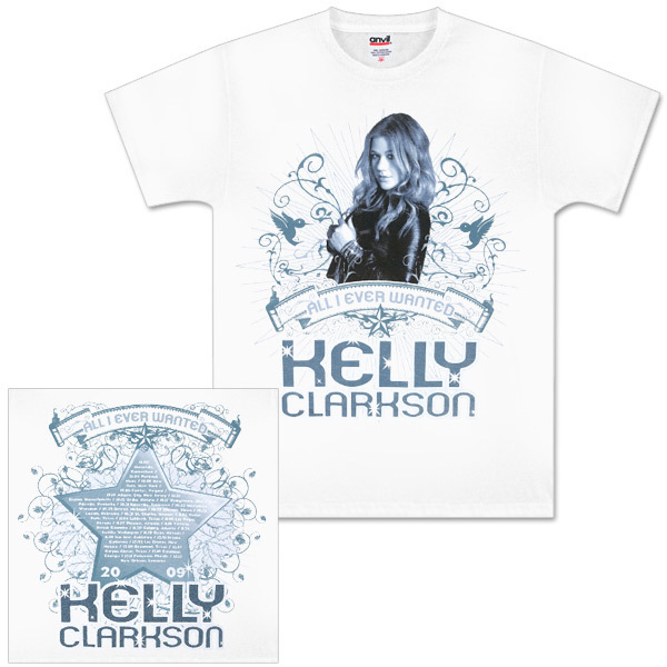 Kelly Clarkson Sparkle White Tour T-Shirt