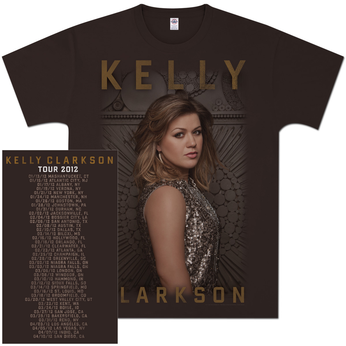 Kelly Clarkson Glitter Photo Tour T-Shirt