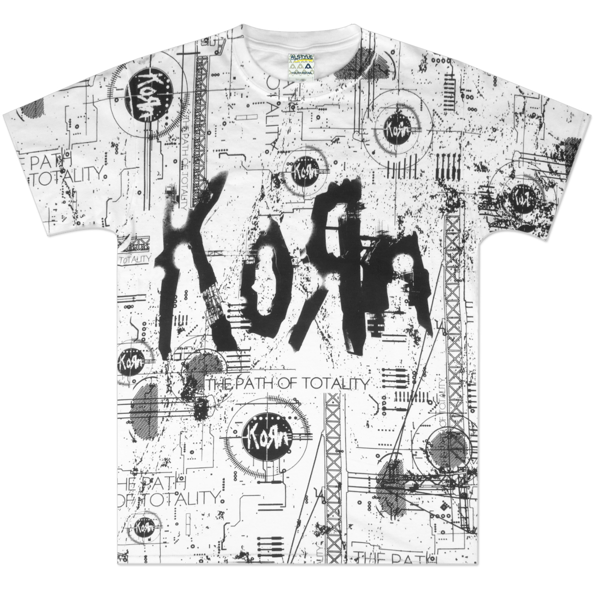 Korn Schematic Allover T-Shirt