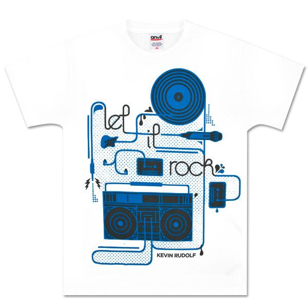 White Kevin Rudolf Sound Circuit Shirt
