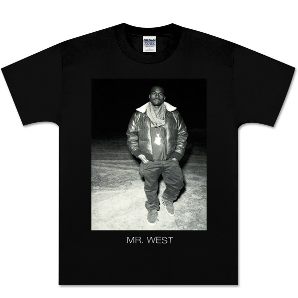 Kanye West Black and White Photo Tee